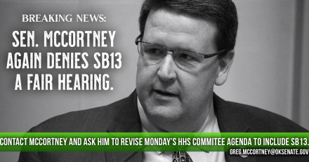 Senator McCortney Again Denies SB13 a Fair Hearing