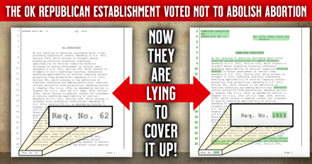 Proof David Bullard is Lying About SB13 to Pastors and Oklahomans