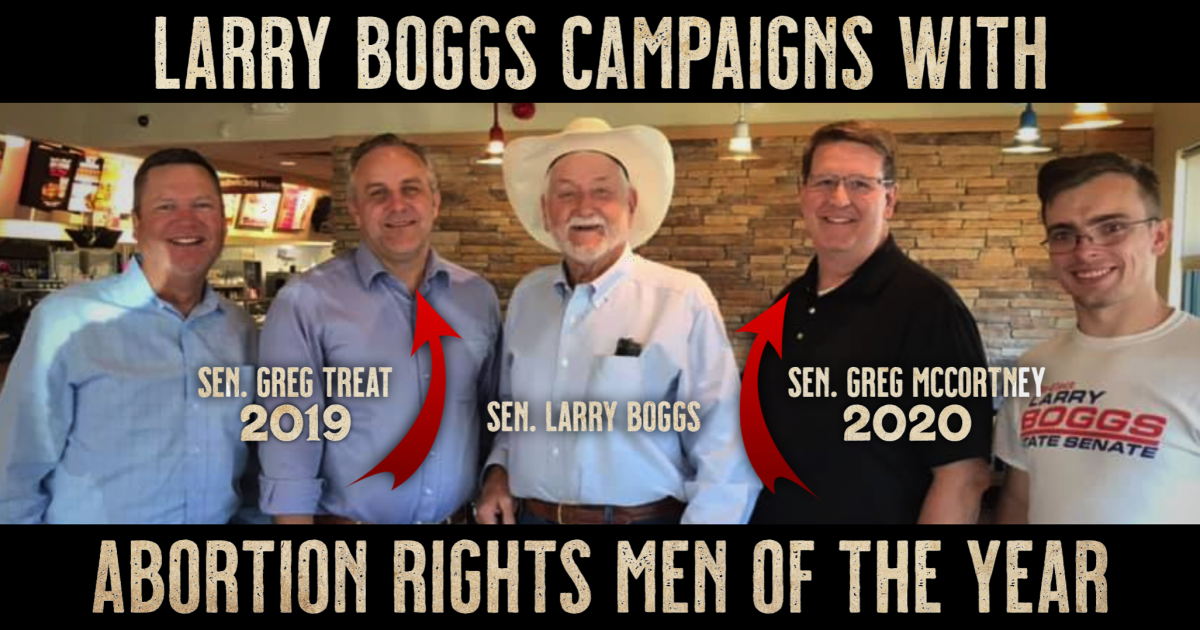 Larry Boggs Campaigns With 2019 & 2020 Abortion Rights Men of the Year