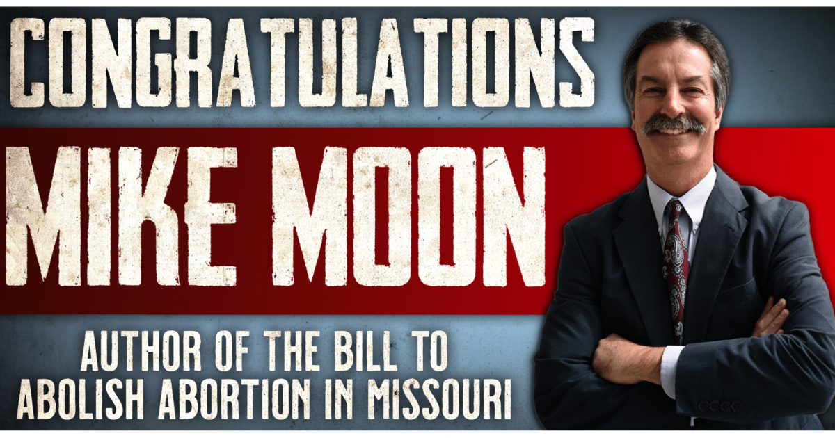 Missouri Abolition Bill Author Mike Moon Elected to State Senate