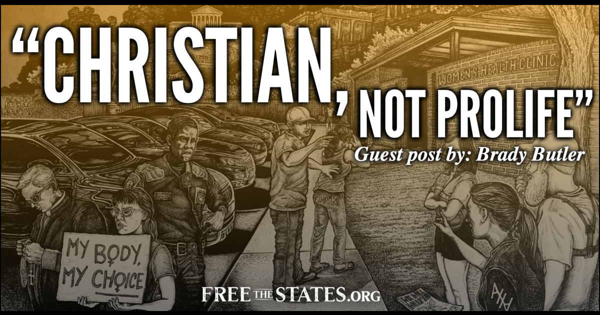 Christian, Not Pro-Life