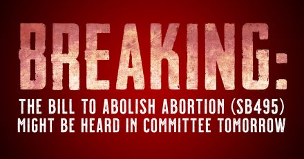BREAKING: SB495 Might be Heard in Senate HHS Committee on Feb. 3!