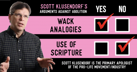 More Wack Analogies and Scripture-less Arguments From Scott Klusendorf